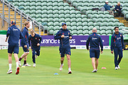 Sir Alastair Cook of Essex warming up with his team mates ahead of the Specsavers County Champ Div 1 match between Somerset County Cricket Club and Essex County Cricket Club at the Cooper Associates County Ground, Taunton, United Kingdom on 26 September 2019.