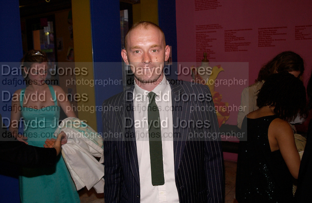 Camilla Rutherford and Rufus Abbott, Daisy de Villeneuve, ' Not You Again' private view and party, Fashion and Textile museum, 25 June 2004. SUPPLIED FOR ONE-TIME USE ONLY-DO NOT ARCHIVE. © Copyright Photograph by Dafydd Jones 66 Stockwell Park Rd. London SW9 0DA Tel 020 7733 0108 www.dafjones.com