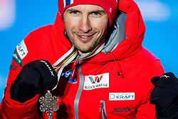February 22, 2019 - Seefeld In Tirol, AUSTRIA - 190222 Jan Schmid of Norway poses with his silver medal at the medal ceremony for men's nordic combined 10 km Individual Gundersen during the FIS Nordic World Ski Championships on February 22, 2019 in Seefeld in Tirol..Photo: Vegard Wivestad GrÂ¿tt / BILDBYRN / kod VG / 170289 (Credit Image: © Vegard Wivestad Gr¯Tt/Bildbyran via ZUMA Press)