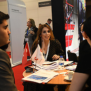 Turkish Airlines exhibition at Business Travel Show 2020 and travel technology europe on 26th February 2020, Olympia London‎, UK.