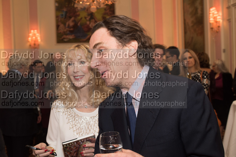 BASIA BRIGGS; ALEXANDER NEWLEY Launch of book by Basia Briggs, Mother Anguish. The Ritz hotel, Piccadilly. 4 December 2017