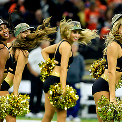 Nov 13, 2016; New Orleans, LA, USA;  The New Orleans Saints Saintsations cheerleaders perform during the first half of a game against the Denver Broncos at the Mercedes-Benz Superdome. The Broncos defeated the Saints 25-23. Mandatory Credit: Derick E. Hingle-USA TODAY Sports