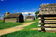 Image of soldier's huts at Valley Forge National Historical Park, Pennsylvania, American Northeast