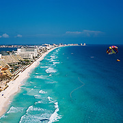 Aerial view of Cancun. Quintana Roo, Mexico.