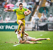 England vs Australia during their HSBC Wold Rugby Sevens Series match as part of the Cathay Pacific / HSBC Hong Kong Sevens at the Hong Kong Stadium on 10 April 2016 in Hong Kong, China. Photo by Mike Pickles / Future Project Group