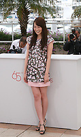 Actress, Rin Takanashi, at the Like Someone In Love film photocall at the 65th Cannes Film Festival France. Monday 21st May 2012 in Cannes Film Festival, France.