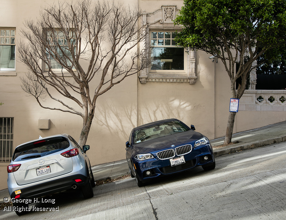 Slanted street in San Francisco