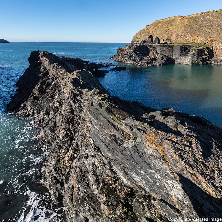 Blue Lagoon,  a breached slate quarry, Abereiddy, Pembrokeshire.