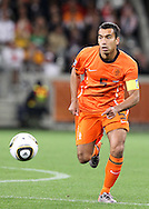 CAPE TOWN, SOUTH AFRICA- Tuesday 6 July 2010, Giovanni van Bronckhorst during the semi final match between Uruguay and the Netherlands (Holland) held at the Cape Town Stadium in Green Point during the 2010 FIFA World Cup..Photo by Roger Sedres/Image SA