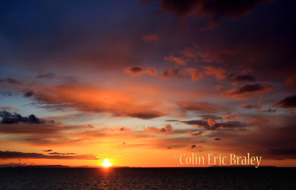 Sunset on the Great Salt Lake, utah April 9,2008. Colin Braley/Stock