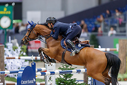 BICOCCHI Emilio (ITA), Evita SG Z<br /> Genf - CHI Geneve Rolex Grand Slam 2019<br /> Prix des Vins de Genève<br /> Internationales Springen Fehler/Zeit<br /> International Jumping Competition 1m45<br /> Table A: Against the Clock<br /> 12. Dezember 2019<br /> © www.sportfotos-lafrentz.de/Stefan Lafrentz