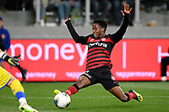 SYDNEY, AUSTRALIA - JULY 20: Western Sydney Wanderers forward Bruce Kamau (11) reaches out to the ball during the club friendly football match between Leeds United and Western Sydney Wanderers FC on July 20, 2019 at Bankwest Stadium in Sydney, Australia. (Photo by Speed Media/Icon Sportswire)
