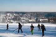 Skihang, Skifahrer, Schnee, Winter, Braunlage, Harz, Niedersachsen, Deutschland | ski lift, skiing, snow, winter, Braunlage, Harz, Lower Saxony, Germany