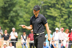 27.06.2015, Golfclub München Eichenried, Muenchen, GER, BMW International Golf Open, Tag 3, im Bild Freude ueber das Birdie // during the day three of BMW International Golf Open at the Golfclub München Eichenried in Muenchen, Germany on 2015/06/27. EXPA Pictures © 2015, PhotoCredit: EXPA/ Eibner-Pressefoto/ Kolbert<br /> <br /> *****ATTENTION - OUT of GER*****
