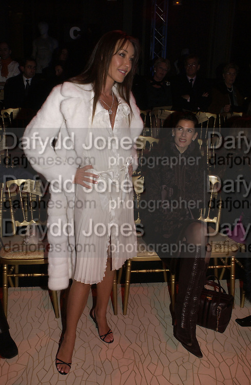Tamara Mellon, Valentino couture show, Ecole Nationale Superiore des Beaux -Arts, rue Bonaparte. After party at the Ritz. 23 January  2006.  ONE TIME USE ONLY - DO NOT ARCHIVE  © Copyright Photograph by Dafydd Jones 66 Stockwell Park Rd. London SW9 0DA Tel 020 7733 0108 www.dafjones.com