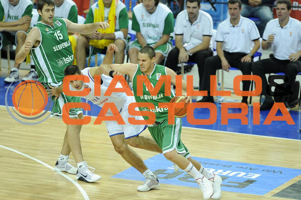 DESCRIZIONE : Katowice Poland Polonia Eurobasket Men 2009 Semifinali Semifinal Serbia Slovenia<br /> GIOCATORE : Bostjan Nachbar<br /> SQUADRA : Slovenia<br /> EVENTO : Eurobasket Men 2009<br /> GARA : Serbia Slovenia<br /> DATA : 19/09/2009 <br /> CATEGORIA :<br /> SPORT : Pallacanestro <br /> AUTORE : Agenzia Ciamillo-Castoria/G.Ciamillo<br /> Galleria : Eurobasket Men 2009 <br /> Fotonotizia : Katowice  Poland Polonia Eurobasket Men 2009 Semifinali Semifinal Serbia Slovenia<br /> Predefinita :