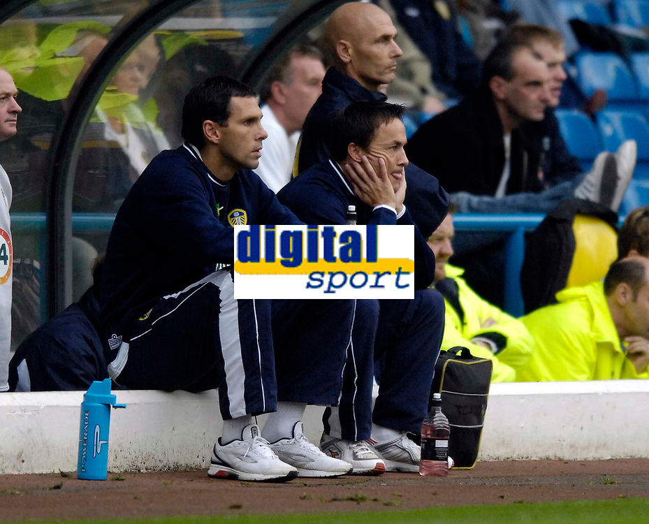 Photo: Jed Wee.<br />Leeds United v Southend United. Coca Cola Championship. 28/10/2006.<br /><br />Leeds' new manager Dennis Wise (R) with new assistant manager Gus Poyet.