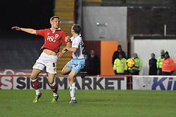 Bristol City's Matt Smith heads towards goal - Photo mandatory by-line: Dougie Allward/JMP - Mobile: 07966 386802 - 10/12/2014 - SPORT - Football - Bristol - Ashton Gate Stadium - Bristol City v Coventry City - Johnstone's Paint Trophy