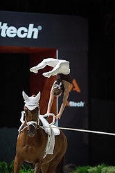 Daniela Fritz, (AUT), Caramel, Maria Lehrmann - Individuals Women Technical Vaulting - Alltech FEI World Equestrian Games™ 2014 - Normandy, France.<br /> © Hippo Foto Team - Jon Stroud<br /> 04/09/2014