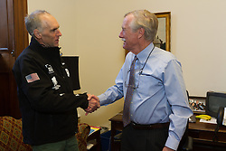 Gary Allen's Maine to DC run; day-after meet and greet with Senator Angus King