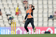 Paige Scholfield of Southern Vipers during the Women's Cricket Super League match between Southern Vipers and Yorkshire Diamonds at the Ageas Bowl, Southampton, United Kingdom on 8 August 2018.