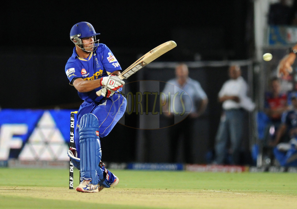 Owais Shah of Rajasthan Royals bats during match 72 of the Indian Premier League ( IPL) 2012  between The Rajasthan Royals and the Mumbai Indians  held at the Sawai Mansingh Stadium in Jaipur on the 20th May2012..Photo by Pal Pillai/IPL/SPORTZPICS