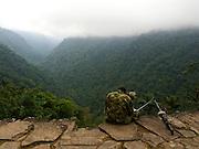 Soldier on Lookout Duty - Sierra Nevada - Northwest Colombia