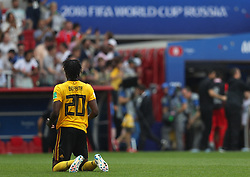 June 23, 2018 - Moscou, Rússia - MOSCOU, MO - 23.06.2018: BÉLGICA Y TÚNEZ - Dedryck BOYATA of Belgium thanks after the match between Belgium and Tunisia valid for the 2018 World Cup held at the Otkrytie Arena (Spartak) in Moscow, Russia. (Credit Image: © Rodolfo Buhrer/Fotoarena via ZUMA Press)