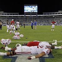 September 15, 2012 - Lexington, Kentucky, USA - Western Kentucky University football players celebrate on the field of Commonwealth Stadium after WKU defeated the University of Kentucky, 32-31, on a trick play in overtime. (Credit Image: © David Stephenson/ZUMA Press).