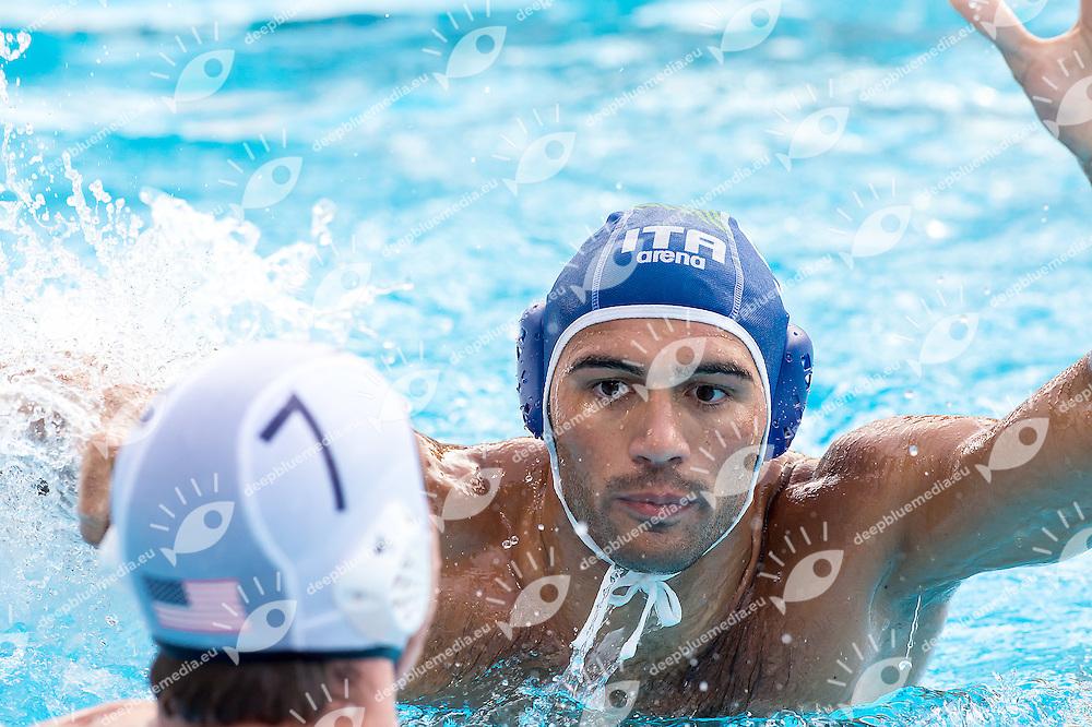 9 GITTO Niccolo' ITA<br /> United States USA (white) - Italy ITA (blue)<br /> day 03 - 25/06/2015<br /> FINA Water Polo World League Superfinal Men<br /> Bergamo (ITA) 23-28 June 2015<br /> Photo G.Scala/Deepbluemedia