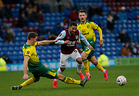 Football - 2019 / 2020 Emirates FA Cup - Fourth Round: Burnley vs. Norwich City<br /> <br /> Christoph Zimmermann of Norwich City brings down Aaron Lennon of Burnley in midfield, at Turf Moor.<br /> <br /> COLORSPORT/ALAN MARTIN