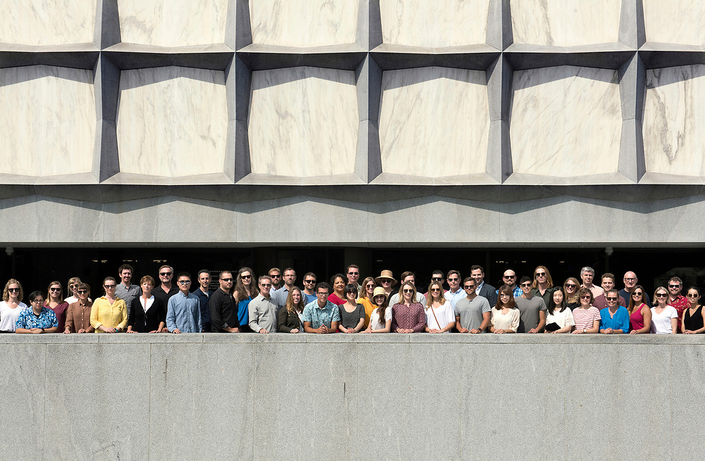 Photo by Mara Lavitt<br /> September 12, 2017<br /> Reed Hildebrand employees on Hewitt Quadrangle near the Beinecke Rare Book &amp; Manuscript Library at Yale.