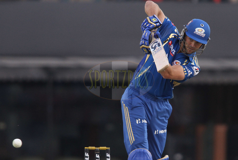 Paul Valthaty of the Kings XI Punjab plays a delivery through the legside during match 33 of the the Indian Premier League (IPL) 2012  between The Kings X1 Punjab and The Mumbai Indians held at the Punjab Cricket Association Stadium, Mohali on the 25th April 2012..Photo by Shaun Roy/IPL/SPORTZPICS