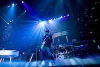 Tomi Martin performs as the guitarist for Justin Bieber in Saskatoon during his My World Tour.  (MANDATORY CREDIT:  Robert Caplin / PSG)  **EXCLUSIVE : DOUBLE SPACE RATES APPLY.  CALL 646.325.3221 PRIOR TO PUBLICATION**......... Tomi Martin<br />