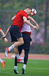 NANNING, CHINA - Sunday, March 25, 2018: Wales' James Chester during a training session at the Guangxi Sports Centre ahead of the 2018 Gree China Cup International Football Championship final match against Uruguay. (Pic by David Rawcliffe/Propaganda)