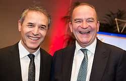 29.10.2015, Austria Center Vienna, Wien, AUT, Lotterien-Gala, Nacht des Sports 2015, im Bild v.r.n.l. Herbert Prohaska und Marcel Koller // f.r.t.l. former football player Herbert Prohaska and Headcoach of the austrian football team Marcel Koller during Lotterien galanight of sports 2015 at Austria Center in Vienna on 2015/10/29, EXPA Pictures © 2015 PhotoCredit: EXPA/ Michael Gruber