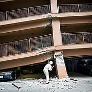 KUMAMOTO, JAPAN - APRIL 16: A magnitude 7.3 earthquake hit Kumamoto prefecture once again on April 16, 2016 after the 6.4 earthquake on April 14, 2016 killed nine people.<br /> <br /> Photo: Richard Atrero de Guzman