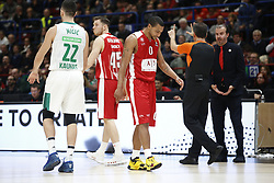 November 9, 2017 - Assago, Milan, Italy - Andrew Goudelock (#0 AX Armani Exchange Milan) during a game of Turkish Airlines EuroLeague basketball between  AX Armani Exchange Milan vs Zalgiris Kaunas at Mediolanum Forum on November 9, 2017 in Milan, Italy. (Credit Image: © Roberto Finizio/NurPhoto via ZUMA Press)