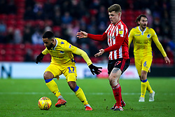 Alex Jakubiak of Bristol Rovers takes on Max Power of Sunderland - Mandatory by-line: Robbie Stephenson/JMP - 15/12/2018 - FOOTBALL - Stadium of Light - Sunderland, England - Sunderland v Bristol Rovers - Sky Bet League One
