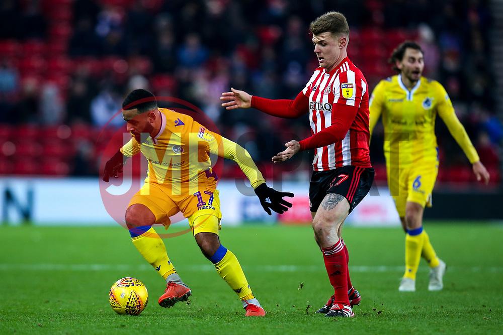 Alex Jakubiak of Bristol Rovers takes on Max Power of Sunderland - Mandatory by-line: Robbie Stephenson/JMP - 15/12/2018 - FOOTBALL - Stadium of Light - Sunderland, England - Sunderland v Bristol Rovers - Sky Bet League One