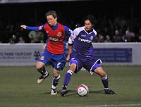 Photo: Tony Oudot/Richard Lane Photography. Dagenham & Redbridge v Rochdale. Coca-Cola Football League Two. 21/11/2009. <br /> Danny Green of Dagenham and Will Buckley of Rochdale