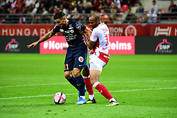 September 1, 2018 - Reims, France - 11 ANDY DELORT (MHSC) - 19 THOMAS FONTAINE  (Credit Image: © Panoramic via ZUMA Press)