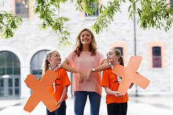 Repro Free: 06/07/2017 Pictured at the Irish Cancer Society's X-HALE Youth Awards in the Odeon Cinema Point Village were Caoimhe Keeley and Lara O'Brien of St Bridget's Guides Clonmel with blogger and radio presenter Doireann Garrihy. Over 300 young people from 40 youth and community groups showcased a huge range of short films based on anti-tobacco messages. Picture Andres Poveda