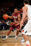 January 27, 2013: Devon Bookert #1 of Florida State in action during the NCAA basketball game between the Miami Hurricanes and Florida State Seminoles at the BankUnited Center in Coral Gables, FL. The Hurricanes defeated the Seminoles 71-47.