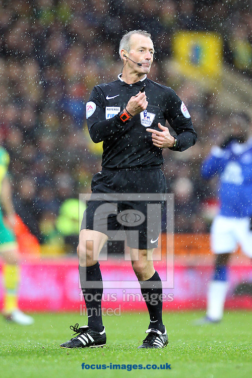 Referee Martin Atkinson during the Barclays Premier League match at Carrow Road, Norwich<br /> Picture by Paul Chesterton/Focus Images Ltd +44 7904 640267<br /> 12/12/2015
