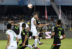 October 8, 2017 - Kolkata, West Bengal, India - Player of Mexico and Iraq in action during the FIFA U 17 World Cup India 2017 Group F match on October 9, 2017 in Kolkata  (Credit Image: © Saikat Paul/Pacific Press via ZUMA Wire)