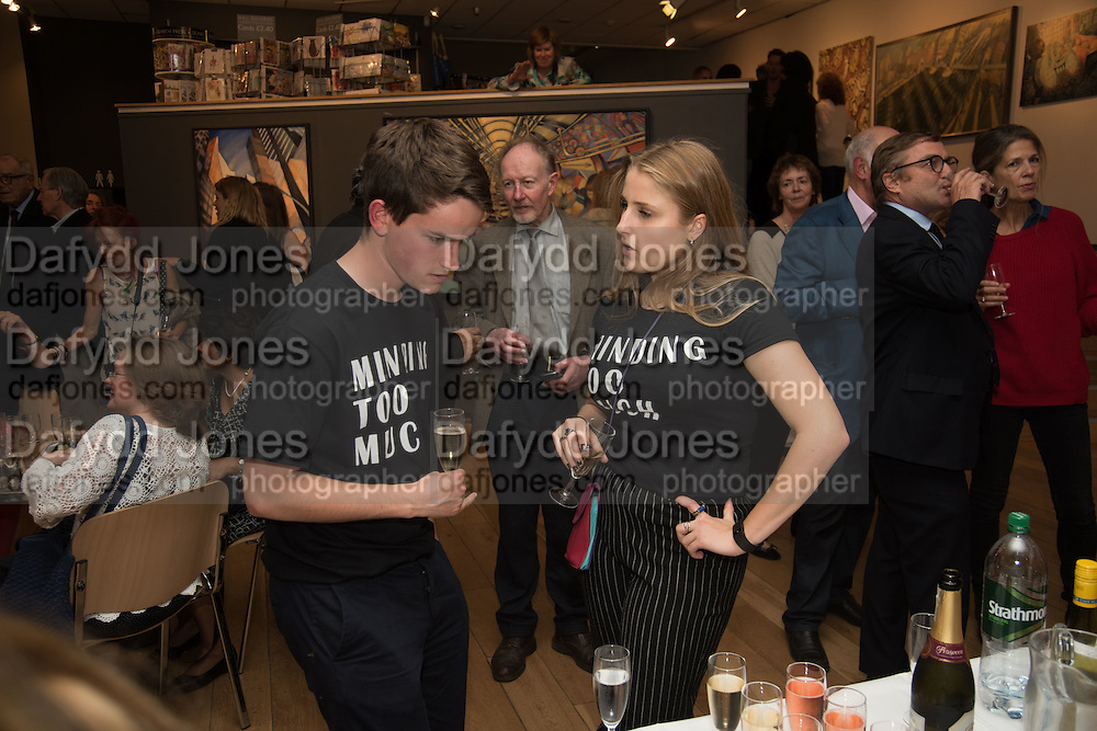 BILLY TREND; CHARLOTTE DAWNAY, Exhibition opening of paintings by Charlotte Johnson Wahl. Mall Galleries. London, 7 September 2015.