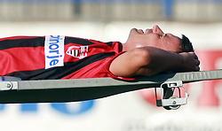 Peter Kalin (7) of Primorje injured  at 6th Round of PrvaLiga Telekom Slovenije between NK Primorje Ajdovscina vs NK Rudar Velenje, on August 24, 2008, in Town stadium in Ajdovscina. Primorje won the match 3:1. (Photo by Vid Ponikvar / Sportal Images)