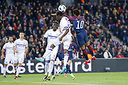 Neymar da Silva Santos Junior - Neymar Jr (PSG) headed for the ball against Dennis Appiah (RSC Anderlecht) during the UEFA Champions League, Group B, football match between Paris Saint-Germain and RSC Anderlecht on October 31, 2017 at Parc des Princes stadium in Paris, France - Photo Stephane Allaman / ProSportsImages / DPPI