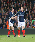 Charlie Adam celebrates with Cammy Kerr after scoring for Dundee - Crystal Palace v Dundee - Julian Speroni testimonial match at Selhurst Park<br /> <br />  - © David Young - www.davidyoungphoto.co.uk - email: davidyoungphoto@gmail.com